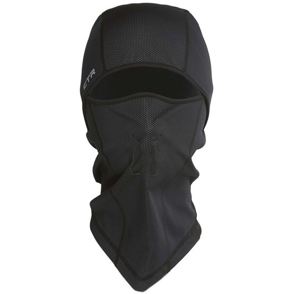 black full face balaclava hat